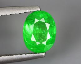 1.575 Cts Tsavorite Oval Chrome Green Garnet 100% Natural Unheated