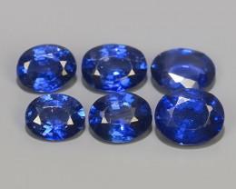 2.35 CTS EXCELLENT NATURAL SRILANKA BLUE SAPPHIRE 6 PCS PARCEL