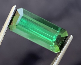 3.80 carats Green colour Tourmaline Gemstone From  Afghanistan