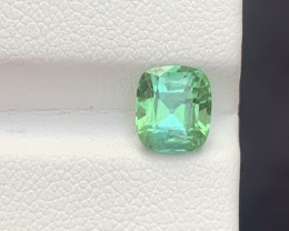 1.45 carats Transparent Green   colour Tourmaline Gemstone From  Afghanista