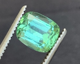 1.55 carats Transparent Green  colour Tourmaline Gemstone From  Afghanistan
