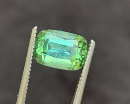 2 carats  Transparent green colour Tourmaline Gemstone From  Afghanistan