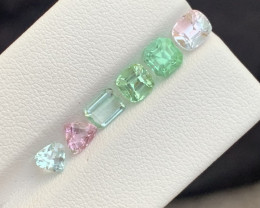 4 carats  green and pink colour Tourmaline Gemstone From  Afghanistan