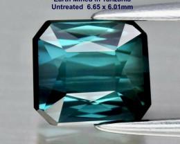 1.62ct Indicolite Tourmaline -  VVS/ Scissor-Cut / 6.65x6.01mm/ certified