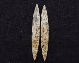 D1931 - 29.5cts Beautiful agate earrings gemstone earrings beads pair, ston