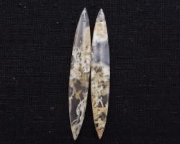 D1932 - 28.5cts Beautiful agate earrings gemstone earrings beads pair, ston