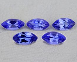 6x3 mm Marquise 5 pcs 1.29cts Purple Blue Tanzanite [VVS]
