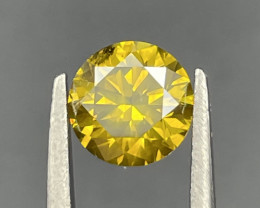 1.11 CT Diamond Gemstones top yellow color with good luster