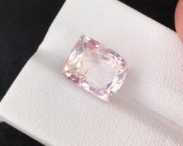 7.60 carats, Natural Pink Kunzite.