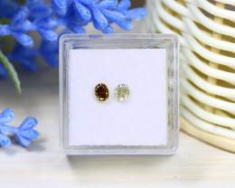 Diamond 0.55Ct 2Pcs Natural Untreated Genuine Fancy Diamond C0766