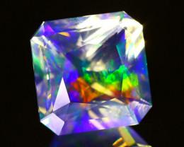 ContraLuz 4.56Ct Square Cut Mexican Very Rare Species Opal A0837