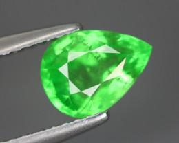 1.510 Cts Tsavorite Pear Chrome Green Garnet 100% Natural Unheated