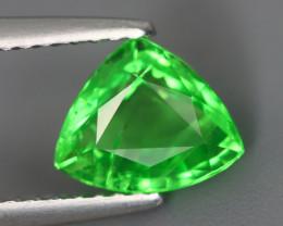 1.545 Cts Tsavorite Trillion Chrome Green Garnet 100% Natural Unheated