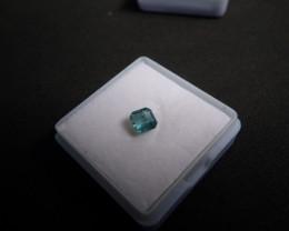 0.5CT square step cut neon blue Paraiba Tourmaline Gem stone untreated