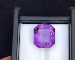 Top Grade Spider Cut 14.15 cts of Natural Amethyst Ring Size
