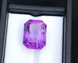 Top Grade Spider Cut 15.65 cts of Natural Amethyst Ring Size