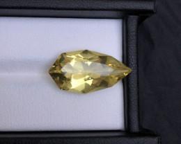 Gorgeous Color 11.06 ct Fancy Cut Lemon Citrine Jewelry Size