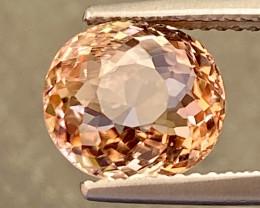 3.05ct Pinkish Orange Tourmaline - VS / Untreated /  9.2 x 8.5mm