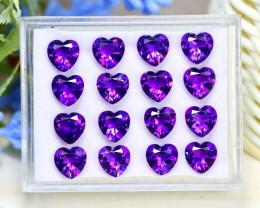 Uruguay Amethyst 17.82Ct Heart Cut Natural Violet Amethyst Lot A0842