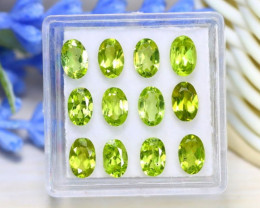 Peridot 5.52Ct Oval Cut Natural Neon Green Color Peridot Lot A0844