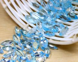 Blue Topaz 87.00Ct 70Pcs VS Marquise Cut Natural Swiss Blue Topaz A0852