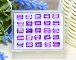 Amethyst 13.35Ct Octagon Cut Natural Bolivian Purple Amethyst Lot A0857