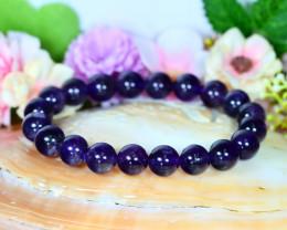 152.00Ct 10.0mm Natural Amethyst Beads Bracelet A0866