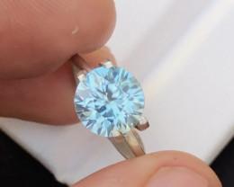 Top Blue Daimond cut Amazing Luster 3.15 Ct Natural Zircon