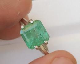 3.40  Ct Natural Zambia Emerald Gemstone