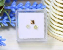 Diamond 0.48Ct 3Pcs Natural Untreated Genuine Fancy Diamond B0902