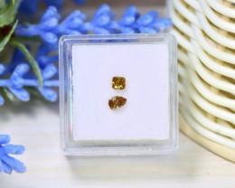 Champagne Diamond 0.37Ct 2Pcs Untreated Genuine Diamond B0926