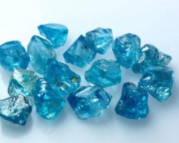 50.20 CTs Natural ~ Blue Zircon Rough Lot