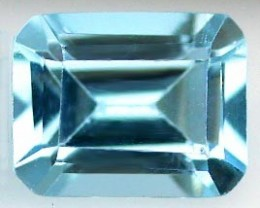 TOPAZ SKY BLUE 1.18 CARAT WEIGHT EMERALD CUT GEM NR BIN