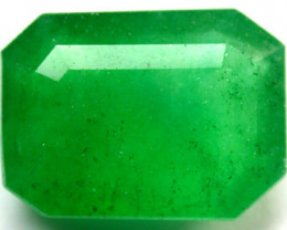 QUARTZ EMERALD  COL AND FACETED 7.20 CARATS  GW 106