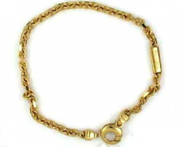 18K GOLD BRACELET 8INCH LONG 16.8 GRAMS GB7