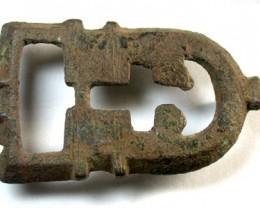 ANCIENT ROMAN-BYZANTINE BRONZE BUCKLE  OP110