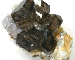 AUSTRALIAN SMOKY QUARTZ  ON HOST ROCK [Q 8 MGW308] 150 CTS