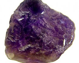 26 CTS NATURAL AMETHYST ROUGH BEAD DRILLED  LG-1141