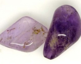 AMETHYST DRILLED BEAD 2 PCS 25.25 CTS  NP-1375