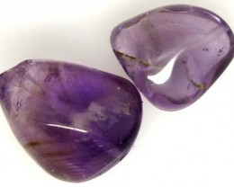 AMETHYST BEAD NATURAL 2 PCS 24 CTS  NP-1394