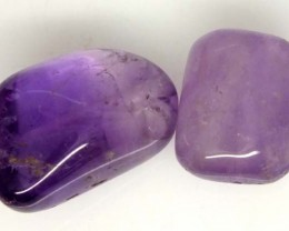 AMETHYST BEAD NATURAL 2 PCS 27.8 CTS NP-1369