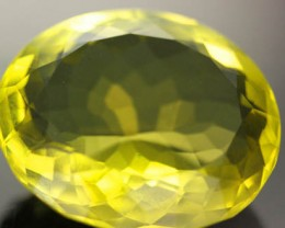 VS   MASSIVE  GOLDEN GREEN  QUARTZ OVAL CUT 45.0 CTS [S670 ]