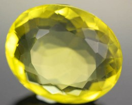 VS MASSIVE GOLDEN GREEN  QUARTZ  OVAL 29.80  CTS [S672 ]