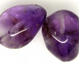 AMETHYST BEAD NATURAL 2 pcs 32.1 CTS  NP-1351