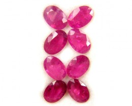 6X4 MM   MM PARCEL AFRICAN RUBY  3.35  CARATS  TW 1076