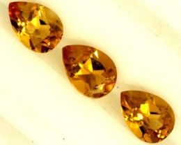 CITRINE NATURAL 3 FACETED  STONES 1.80CTS ADG-808