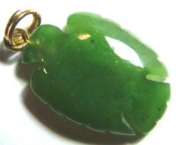 9.50 CTS JADE STONE CARVING PENDANT LG-2145