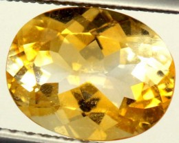 CITRINE NATURAL  FACETED HIGH CLARITY  1.8CTS ADG-603