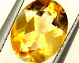 CITRINE NATURAL  FACETED HIGH CLARITY  1.65CTS ADG-653
