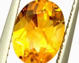 CITRINE NATURAL  FACETED HIGH CLARITY  1.3CTS ADG-648